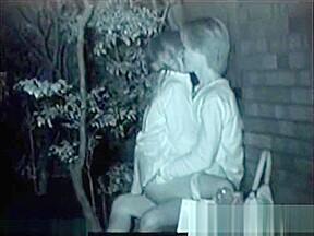 Young couples secret shot outdoor sex...