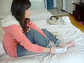 Playing with chinese girls feet...