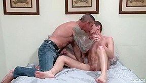 bareback Fellows two - mature copulates younger
