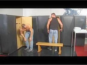 Hirsute daddies Blake Nolan and Arpad Miklos pound dark guy