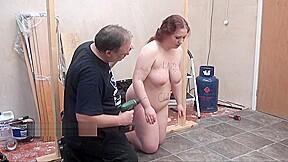 Brutal and tool tortures of fat slaveslut punished...