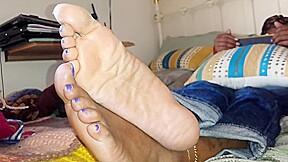Friends crossed soles...
