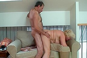 Mature couple couch...