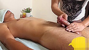 Tall and getting hard while massage...