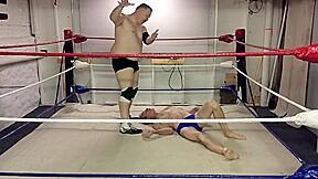 Oldman wrestling old man goes for gold...