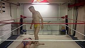 Oldman wrestling a night with alex...
