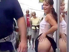 Girl flashing and public part 2...