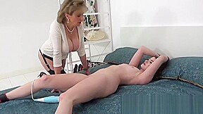 Teases her younger coworker with a hitachi...