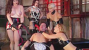 Male Maid Humiliated By 5 Strap-on Doms