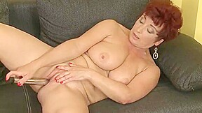 Busty mature mama and her favorite toy