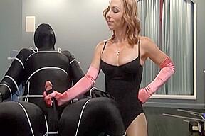 Perfect femdom bondage cumshot...