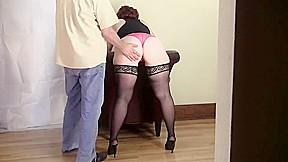 Spanking Lisettes fat ass-