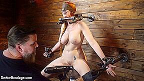 In helpless redhead bondage cum devicebondage...