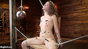 In and waterboarding hogtied...