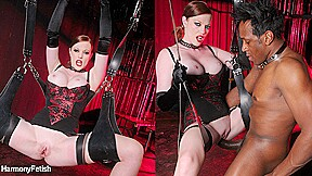 Omar holly kiss in interracial dungeon kink...