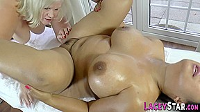 Masseuse Gran Lacey Star Fingers Chubby Asian