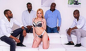 Blonde with perky tits and ass deals with...