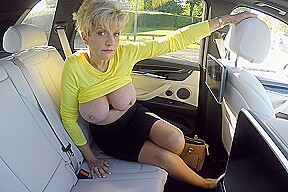 Big Milf Tits On Show In The Car - LadySonia