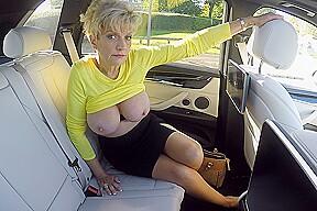 Big Milf Tits On Show In The Car Ladysonia