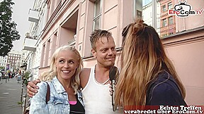 german agent pick up real couple on street for first time swinger club