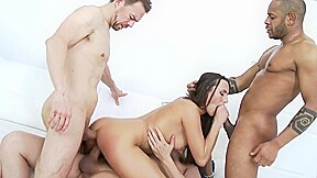 Gymnast ass groaning in group a group of...