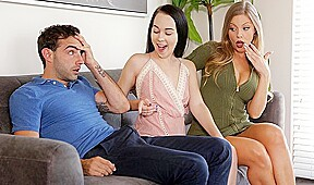 The couple came to the casting and have sex with Tits girl...