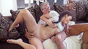 OLD-YOUNG - DAD FUCKS HIS GAMER SONS HOT GF