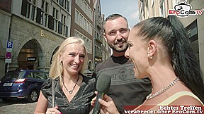petite german young teen couple real street casting for outdoor sex