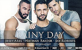 Jay roberts jessy ares nathan raider in rainy...
