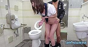 Jav schoolgirl imari fucks uncensored toilet shaved pussy...