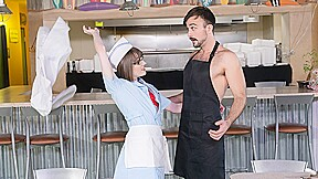 Mason Lear & Claire Tenebrarum in Big Tip For The Waitress - TransAngels