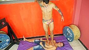 Muscle brazilian master trampling 2...
