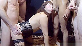 Filthy Swinger Wife Takes On The Football Team