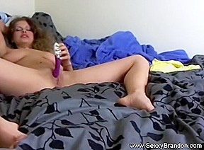 Solo Busty Amateur Brunette Babe Making Feel Arouse
