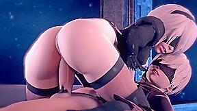 Nier automata 2b x 9s 3d porn game...