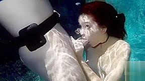 Underwater girl blowjob...