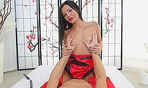 Amanda kimono queen rides big dick tmwvrnet...