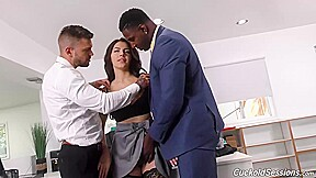 Valentina Nappi Is Having An Interracial Threesome With Two Handsome Guys Instead Of Doing Her Job
