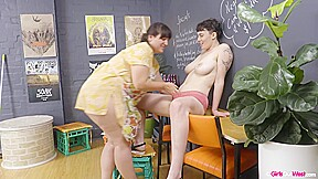 Luca And Violette Are In The Mood To Give Pleasure To Each Other While Alone At Work