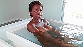 Shy bathes before first ever porn shoot...