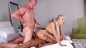 Gorgeous Blonde Florane Russell And Two Horny Guys Are Having A Hot Anal Threesome In The Bed