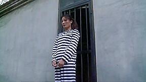 Chinese prison girl in metal bondage...