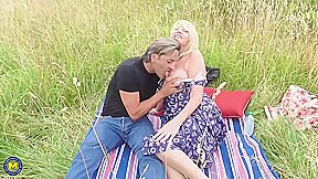 Mature Blonde Lady Amy Likes To Have Sex In The Nature As Often As Possible