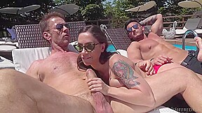 Malena Is Orgying By The Swimming Pool With Friends Who Are As Horny As She Is