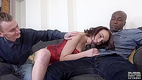 Brunette with cuckold...