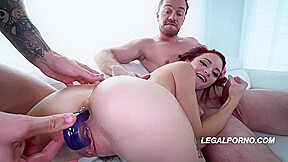 Naughty Kitty Cat Lola Fae Is Getting Doublefucked For The First Time Ever And Enjoying It
