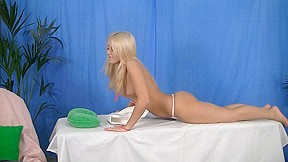 Exiting blondy is willing for hardcore massage porn