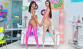 Mulatto and her girlfriend...