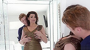 Milf gets horny for step sons sucking it...