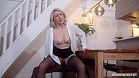 Black Man Is Fucking A Mature Blonde Woman Julie Francais While Her Husband Is Working